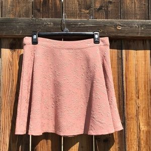 Forever 21 pink textured mini skirt